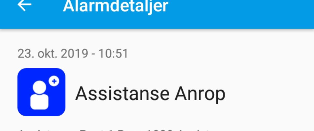 Smarttelefon App – assistanse anrop
