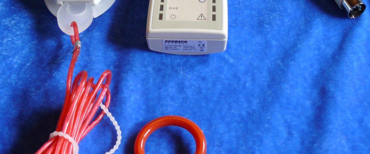 Trådløs mottaker og trådløs trekkontakt