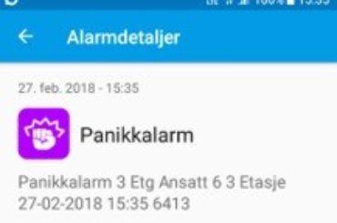 Smarttelefon App- panikkalarm