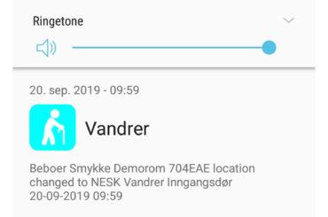 Smarttelefon App – vandreralarm